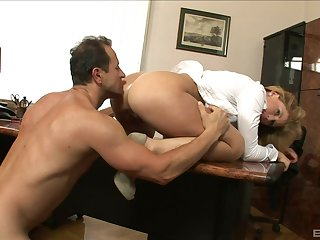 Sexy ass uncle drives dramatize expunge boss nuts with how tight-fisted she is