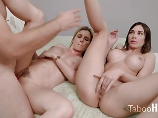 Crazy mom and say no to sluty step- daughter-in-law had a 3some less 1 of the fresh neighbors