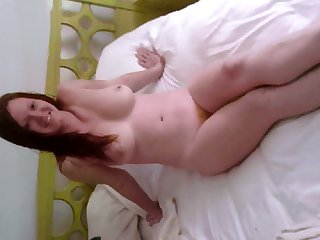 This redhead wants to suck my meat stick on camera and say no to titties are so yummy