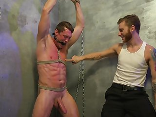 BDSM action for two gay lovers needy to fuck hard