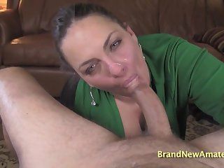 MILF Kayla filthy rimjob and blowjob