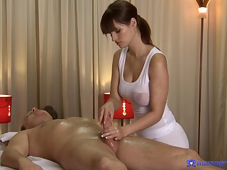 Celebrated masseuse Rita Fink gives a gent all he needs