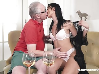 Old man fucks his coarse niece and cums inside her