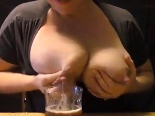 Amateur Brobdingnagian Engorged Breasts Milking # 2