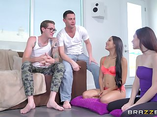 Penurious column share and swap partners in crazy foursome