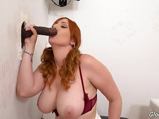 Smooth oral increased by pussy action through the gravitas hole on a BBC