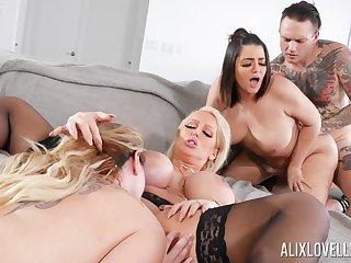 Fabulous group fuck with Alix Lovell, Alura Jenson coupled with Kiki Dare