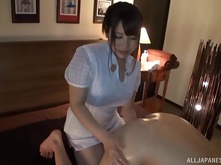 Alarming dick stroking and jerking off by naughty Mion Hatsuki