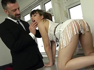 Eradicate affect dick suits her tiny holes in a fully dominant anal shag
