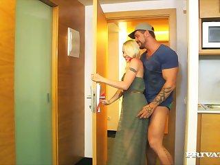 Scrawny blondie Lolita Taylor gets her pussy fucked balls deep
