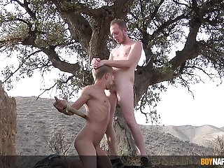 Insipid anal threesome between twinks after a naughty role play