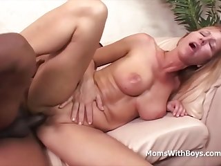NICOLE MOORE INTERRACIAL OFFICE Coition - Blonde