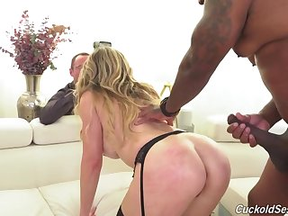 Cory Woo is a smoking red-hot, ash-blonde doll who enjoys to attempt three-ways with ebony dudes