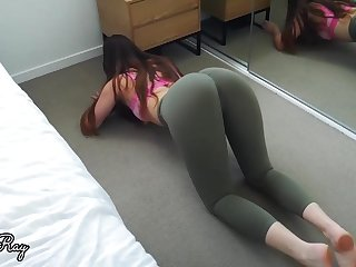 Enormous bootie stunner lets will not hear of roomie touch his boner against will not hear of cunt, until she shoots a load