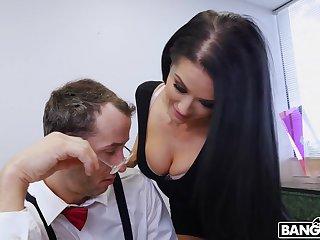 Hardcore fucking close to pierced clit pornstar Katrina Jade in make an issue of office