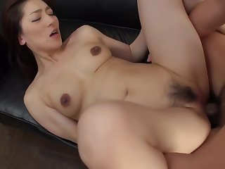 Asian Blow Job With Marina Matsumoto In Threesome Sex