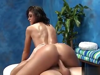 Longhaired Hottie Kneels And Sucks Penis Of Guy