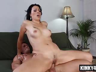 Tattoos mom seduces handsome guy