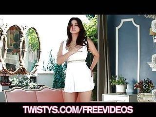 Twistys - Beautiful brunette Sunny Leon strips off her dress