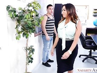 Naughty America - Fat ass Latina teacher fucks her student!