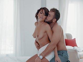 Anal nympho slut Adriana Chechik impaled by a large dong hardcore