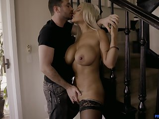 Horny blonde MILF Bridgette B gets a rough fuck which she always wanted