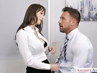 Sexy secretary Lexi Luna seduces handsome co-worker Johnny citadel