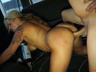Ardent huge breasted blondie Alexa Blun rides fat cock in the van