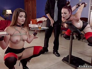 Uncalculated dude fucks ignored slaves in bdsm
