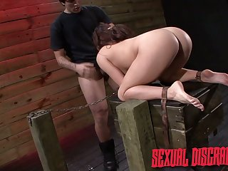 Pervert fucks puffy pussy and bottomless throat be worthwhile for constrained up babe Stella May