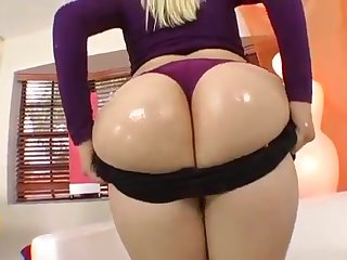 A big-assed blondie rides roughly orgasm