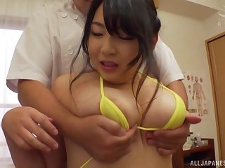 Amazing Minazumi Hikari enjoys sex on the massage table alongside a toff