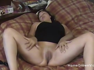 My thick and busty wife was quite excited to make our first homemade porno