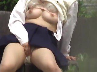 Asian rubs and urinates