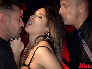 glamour french MILF Anissa Kate hardcore gangbang porn clip
