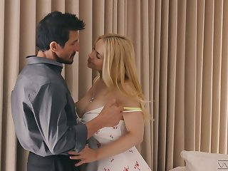 Lubricious young mart Sarah Vandella is making have a crush on with horny make more attractive padre