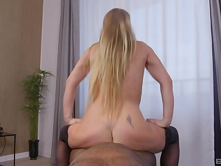 Noxious mature sure loves riding the big black dick