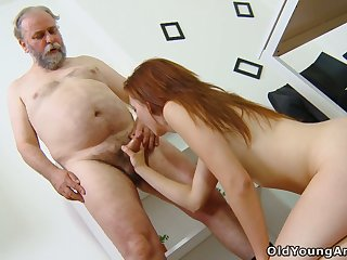 Old tutor knows how to hold student Sveta to try anal sex for the first time