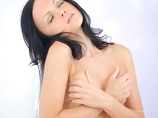 Angellina Teases in White - Cute Teen Sexy Video