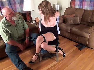 Amateur bdsm slavegirl Emma hogtied and whipped