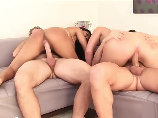 Amazing babes distress for fat dicks