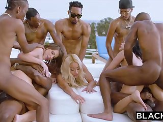 Teanna Trump, Adriana Chechik and Vicki Pursue are orgying by means of a vacation, with dark-hued females
