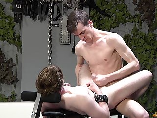 Twinks honour the rough anal plus the merciless BDSM