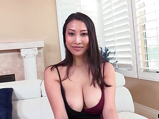 Asian MILF from France Sharon Lee is procure riding sloppy cock on apprise of