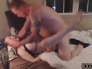 Stacked brunette wife gets drilled off out of one's mind her lover on the borderline