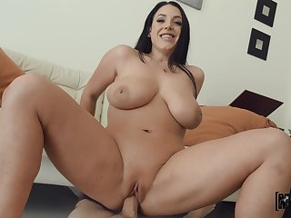Harmonious humping be advantageous to bright-eyed starlet Angela White