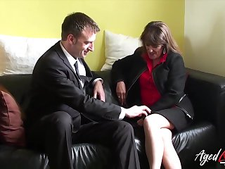 Saucy full-grown woman fucks a married man and that woman has a pierced pussy