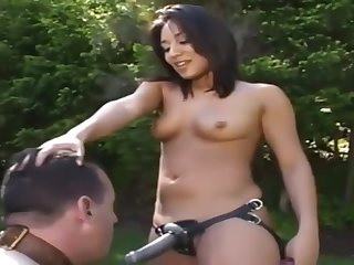 Latina looker shows their way man who's boss