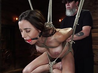 Tenebrous in Mailgram bondage gets whipped