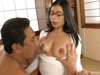 Prex Japan about despondent glasses, nasty oral and sex in POV